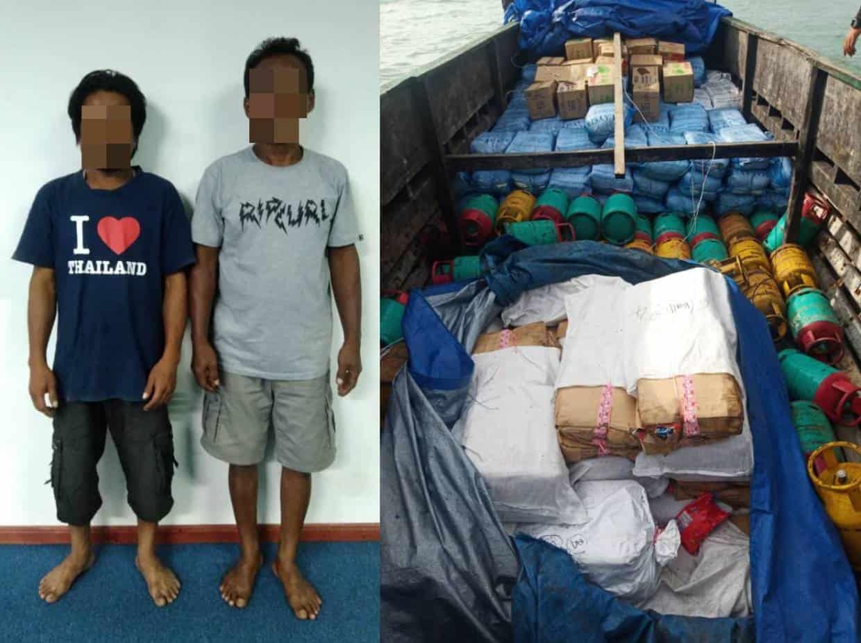 Bot ditahan cuba seludup bahan terkawal, dua diberkas