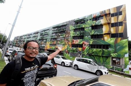 Mural terbesar di Malaysia berjaya disiapkan oleh anak muda.