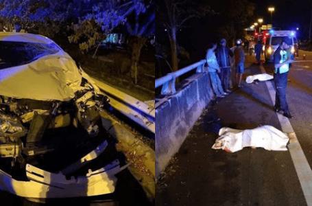 Dua sahabat maut, motor dilanggar oleh pemandu mabuk