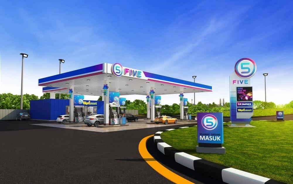 """Syarikat petrol jenama """"FIVE"""" dilancar di Malaysia, tawar pembayaran tanpa tunai"""