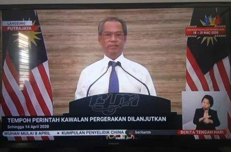 Malaysia lanjutkan Perintah Kawalan Pergerakan (PKP) sehingga 14 April