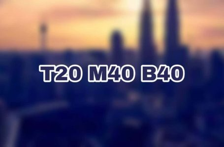 Maksud B40, M40 dan T20 – takrif isi rumah ikut pendapatan