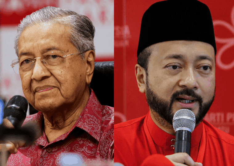 Mahathir mohammed and his son Mukhirz