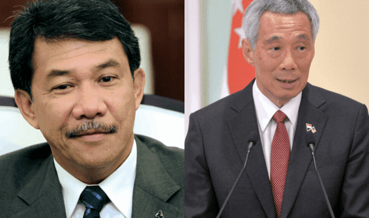 UMNO deputy president Datuk Seri Mohamad Hasan and Singapore's Prime Minister Lee Hsien Loong