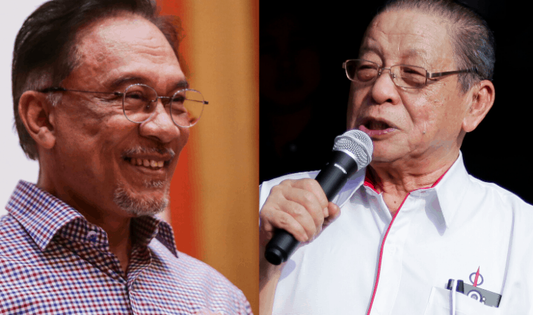 PKR Datuk Seri Anwar Ibrahim and Lim Kit Siang