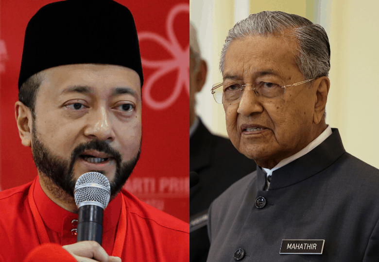 Tun Dr Mahathir Mohamad and Mukhriz