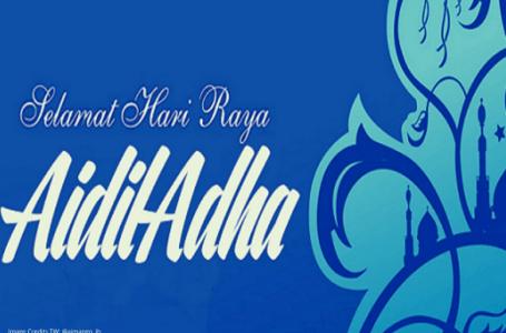 Pengisytiharan tarikh Hari Raya Aidiladha pada hari Jumaat, 31 Julai