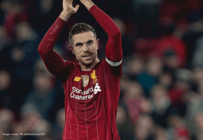 English Premier League title captain Jordan Henderson