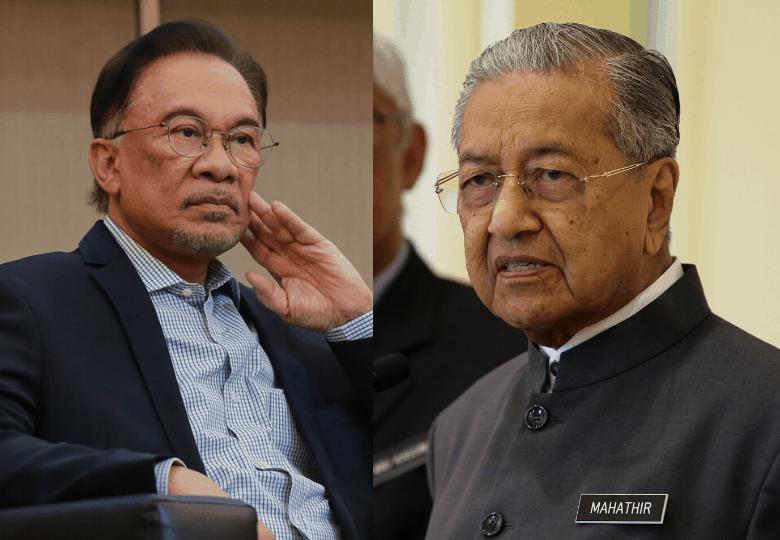 Dr Mahathir and Datuk Seri Anwar Ibrahim