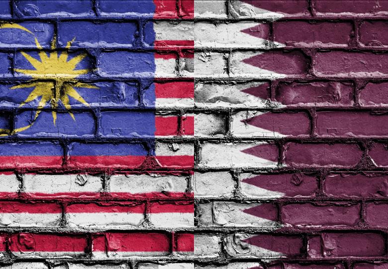 Malaysia and Qatar Flag