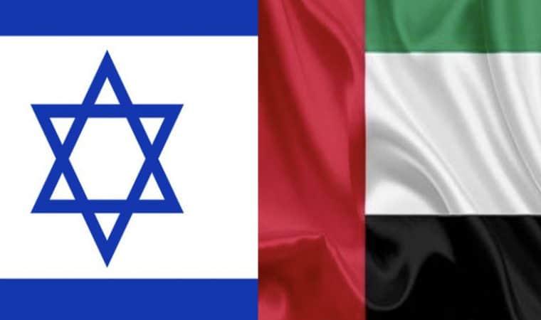 Israel and UAE Flag