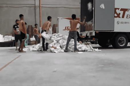 Syarikat kurier J&T Express menerangkan penanganan kasar bungkusan dirakam viral
