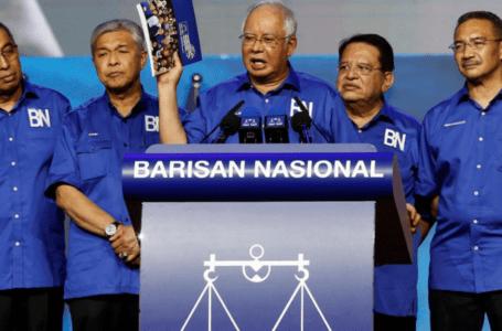 Barisan Nasional (BN) dan UMNO berpecah kepada dua puak yang berbeza